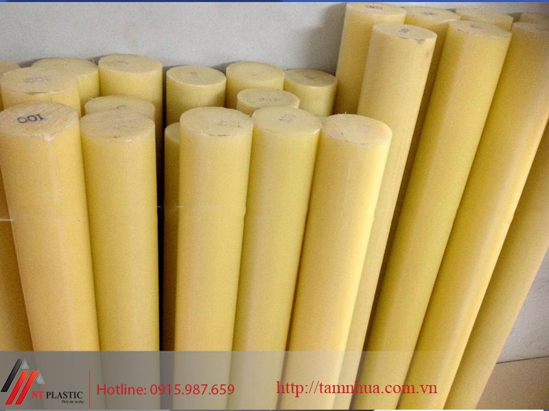 Nhựa PA màu vàng dạng thanh