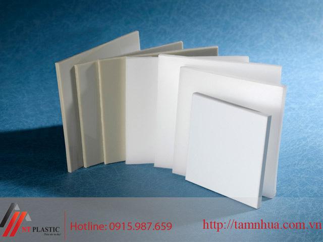 Tấm nhựa PP màu trắng